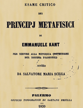 Esame critico dei principj metafisici di kant